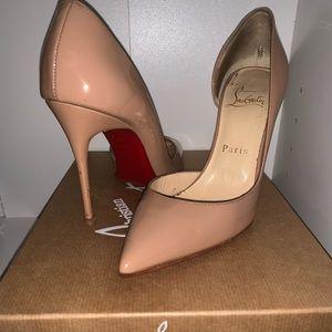 Christian Louboutin Shoes - Nude Patent Christian Louboutin Pumps